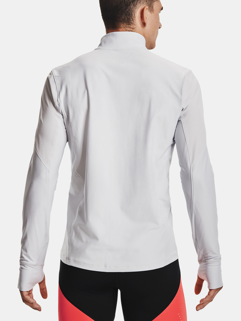 Tričko Under Armour QUALIFIER HALF ZIP-GRY