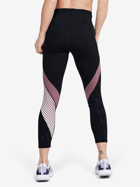 Kompresní legíny Under Armour Rush Embossed Shine Graphic Crop