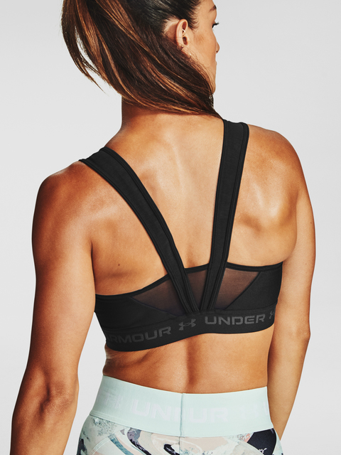 Podprsenka Under Armour Armour Mid Crossback MF Bra-BLK
