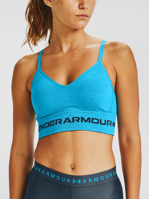 Podprsenka Under Armour UA Seamless Low Long Htr Bra-BLU