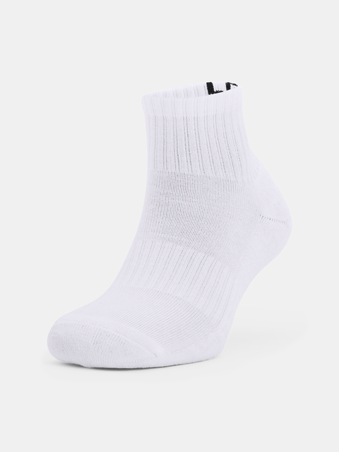 Ponožky Under Armour Core QTR 3PK-WHT