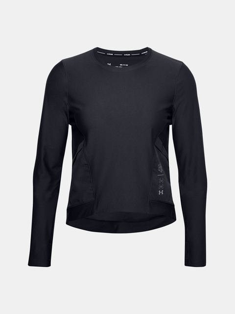 Tričko Under Armour UA Run Anywhere Cropped LS-BLK