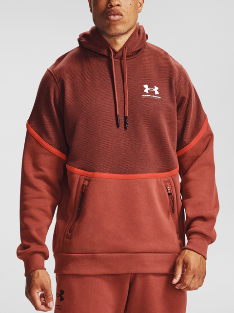 Mikina Under Armour UA Rival Fleece AMP HD-RED