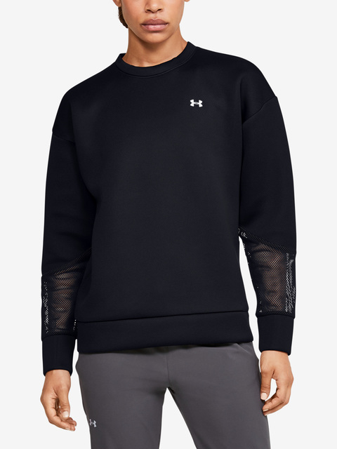 Mikina Under Armour Move Crew Mesh Inset-BLK