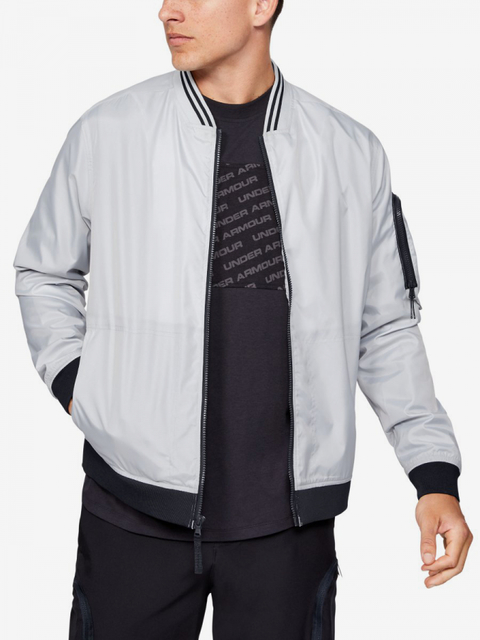 Bunda Under Armour Unstoppable Woven Bomber-Gry