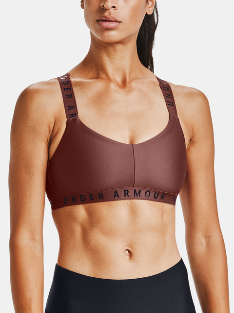 Podprsenka Under Armour Wordmark Strappy Sportlette -RED