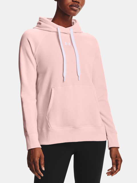 Mikina Under Armour Rival Fleece HB Hoodie-PNK