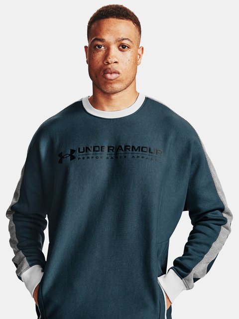 Mikina Under Armour Rival Fleece AMP Crew-BLU