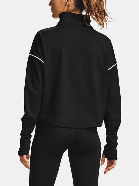 Tričko Under Armour UA CG Rush 1/2 Zip-BLK