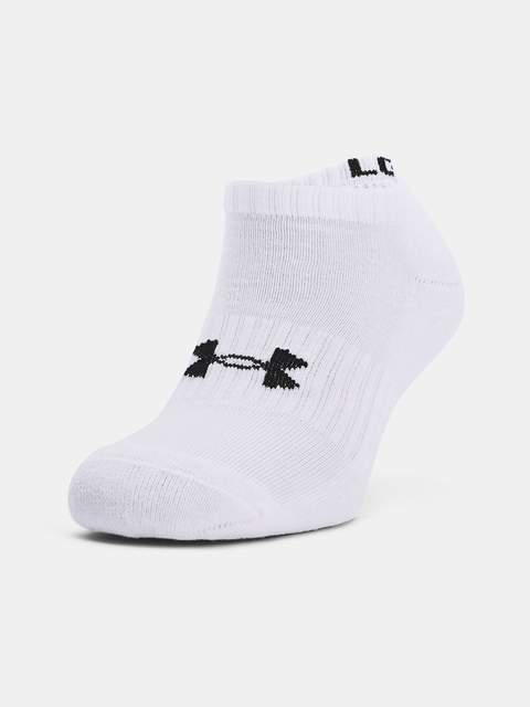 Ponožky Under Armour Core No Show 3Pk-WHT