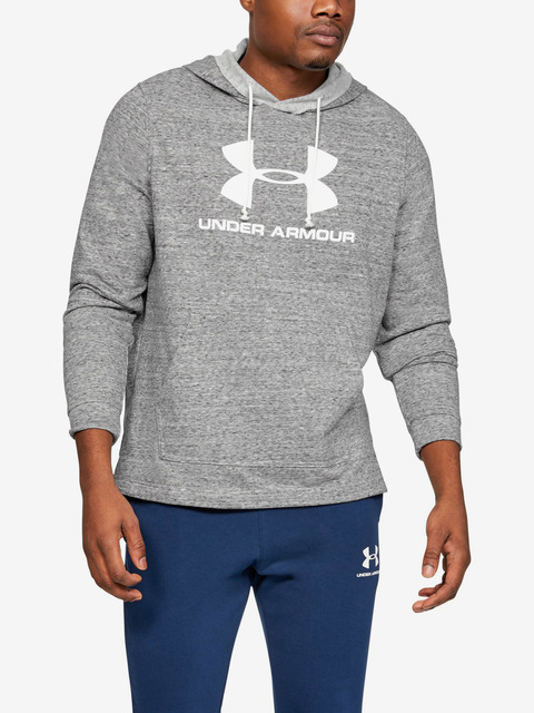 Mikina Under Armour Sportstyle Terry Logo Hoodie-Wht