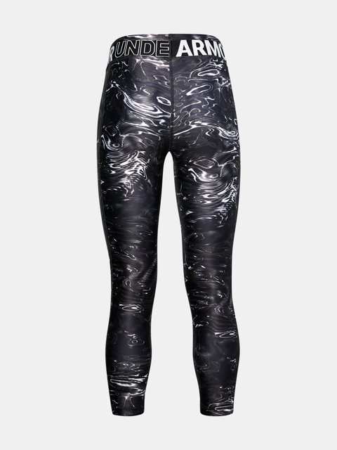 Legíny Under Armour Armour HG Printed Crop-BLK