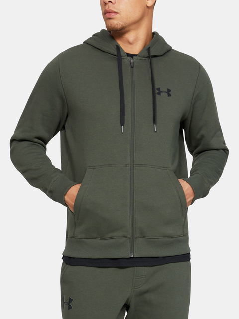 Mikina Under Armour Rival Fitted Full Zip-GRN