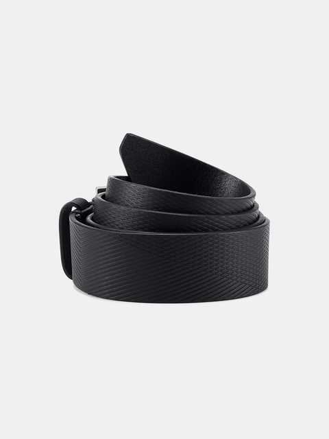 Pásek Under Armour Men's Debossed Leather Belt-BLK