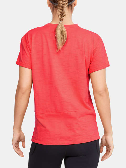 Tričko Under Armour Charged Cotton SS-RED