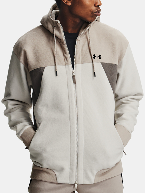 Mikina Under Armour Recover Fleece FZ Hoodie-WHT