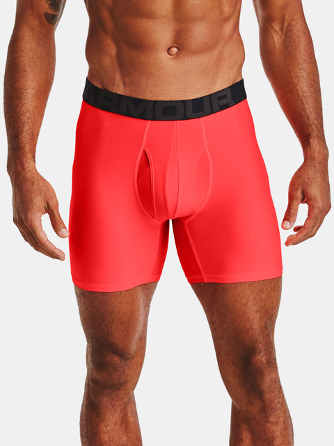 Boxerky Under Armour UA Tech 6in 2 Pack-RED