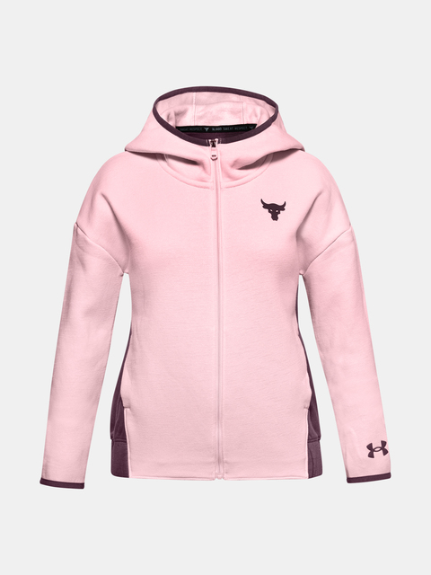 Mikina Under Armour ROCK CC FLEECE FZ-PNK