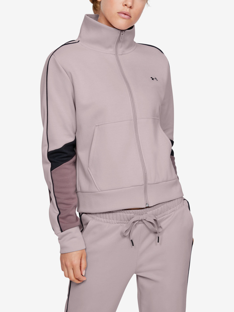 Mikina Under Armour Double Knit FZ-PNK