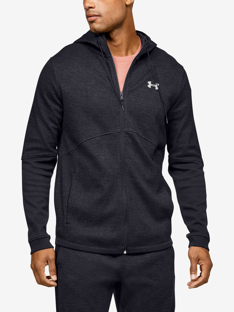 Mikina Under Armour DOUBLE KNIT FZ HOODIE-BLK