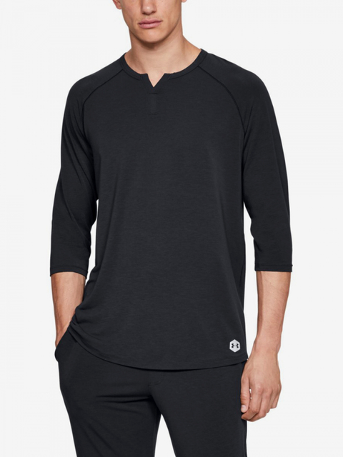Pyžamo Under Armour Recovery Sleepwear Henley-BLK