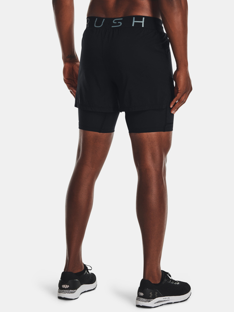 Kraťasy Under Armour UA RUSH Run 2N1 Short-BLK