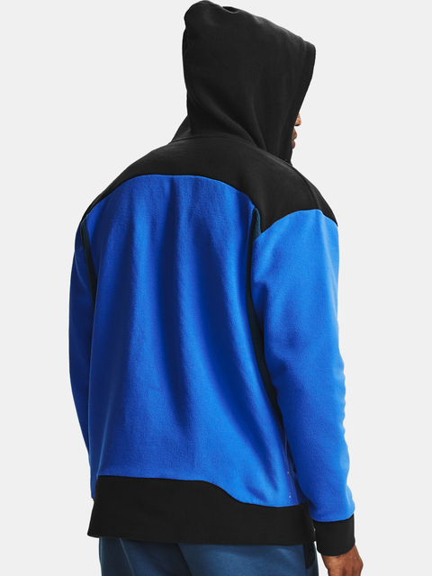 Mikina Under Armour Recover Fleece FZ Hoodie-BLU