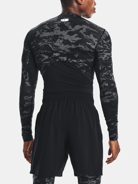 Tričko Under Armour HG Armour Camo Comp  LS-BLK