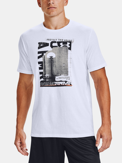 Tričko Under Armour UA BASKETBALL PHOTOREAL SS-WHT