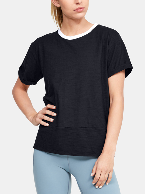 Tričko Under Armour Charged Cotton SS-BLK