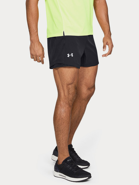 Kraťasy Under Armour QUALIFIER SPEEDPOCKET 5'' SHORT-BLK