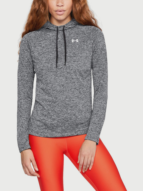 Mikina Under Armour Tech LS Hoody 2.0- Twist-BLK