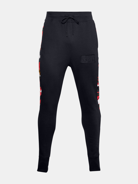 Kalhoty Under Armour CNY FLEECE SNAP PANT-BLK