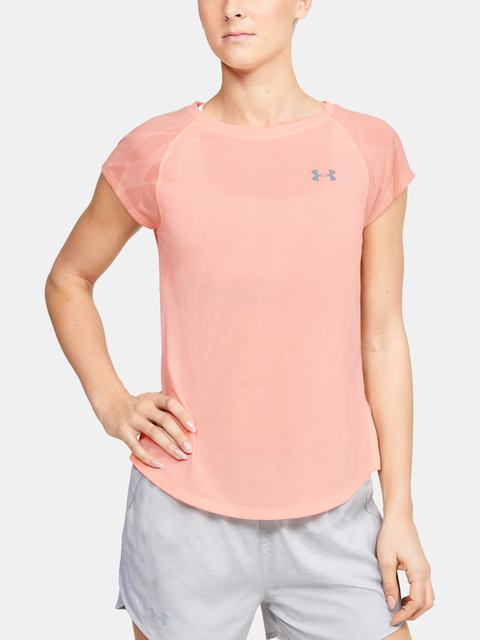 Tričko Under Armour W UA Streaker 2.0 Shift Short Sleeve-ORG