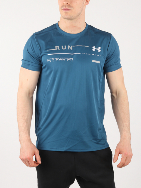 Tričko Under Armour RUN GRAPHIC TEE-BLU