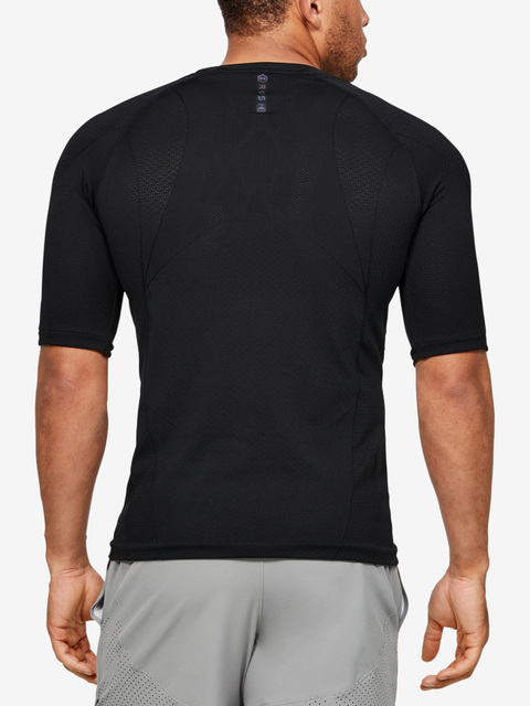 Tričko Under Armour Rush HG Seamless Compression SS-BLK