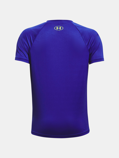Tričko Under Armour UA Tech Hybrid Prt Fill SS-BLU