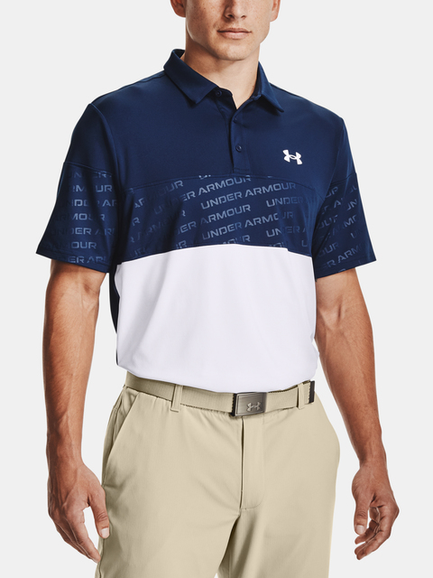 Tričko Under Armour UA Playoff 2.0 Blocked Polo-NVY