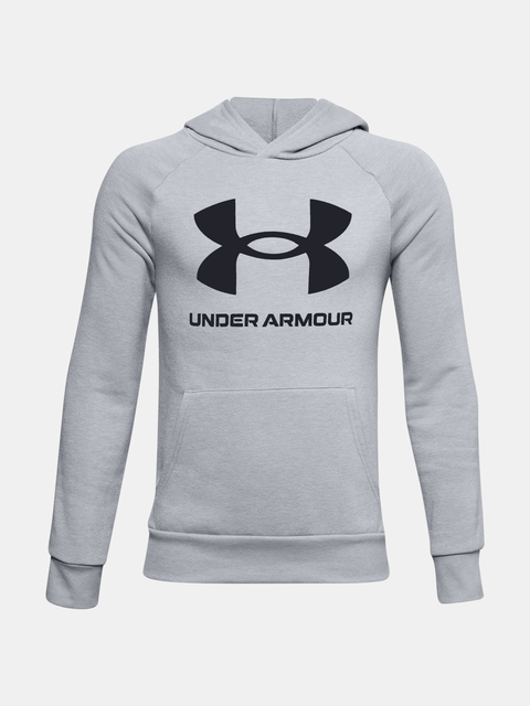 Mikina Under Armour RIVAL FLEECE HOODIE-GRY