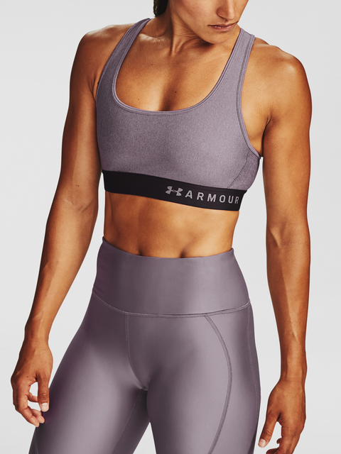 Podprsenka Under Armour Armour Mid Crossback Heather Bra-PPL