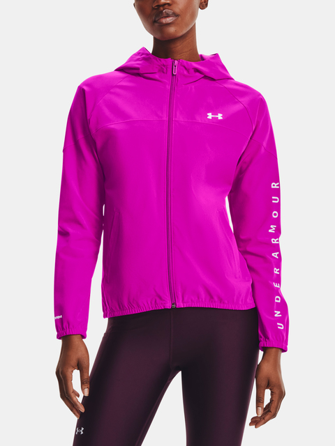 Bunda Under Armour Woven Hooded Jacket-PNK