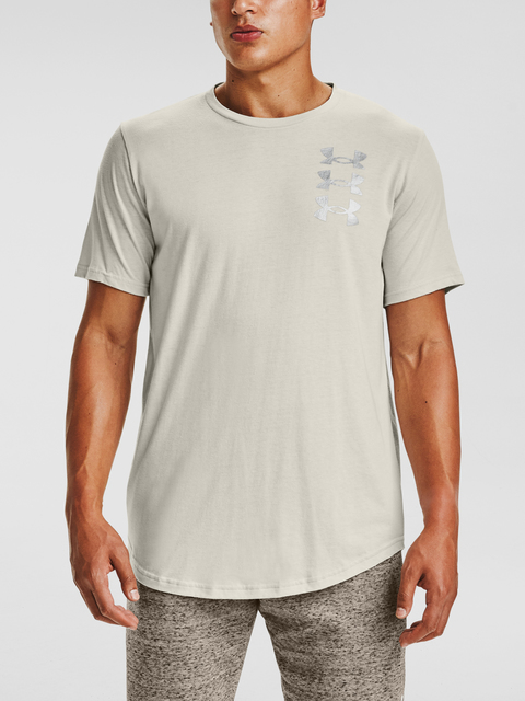 Tričko Under Armour TRIPLE STACK LOGO SS-WHT