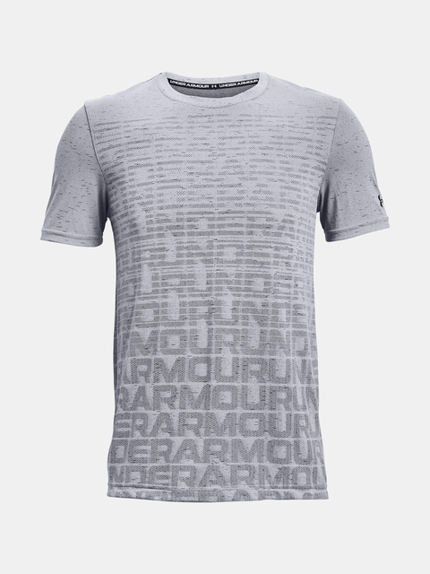 Tričko Under Armour Seamless Wordmark SS-GRY
