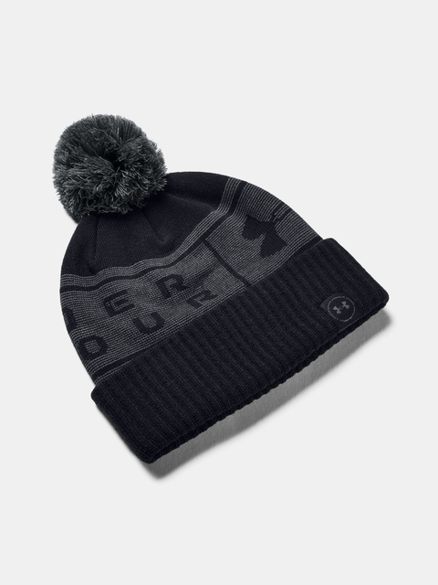 Čepice Under Armour UA Big Logo Pom Beanie-BLK