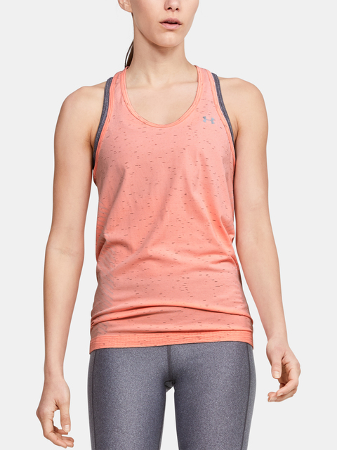 Tílko Under Armour UA Seamless Melange Tank-ORG