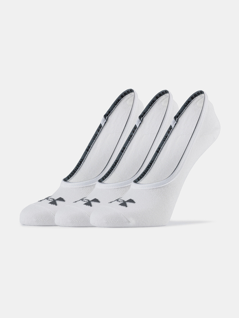 Ponožky Under Armour Essential LOLO Liner 3 Pk-WHT