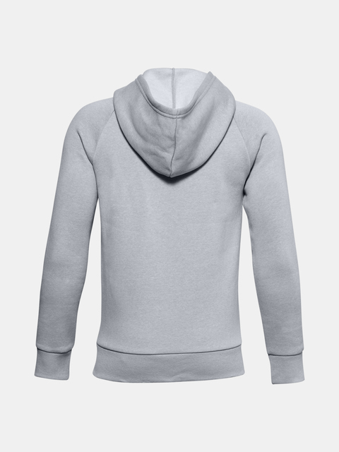 Mikina Under Armour UA RIVAL COTTON FZ HOODIE-GRY