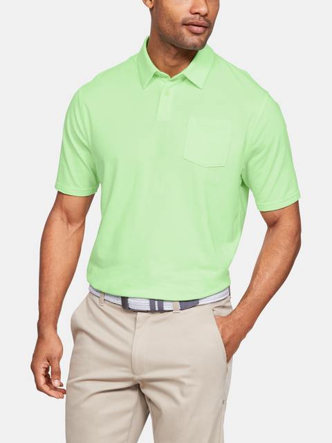 Tričko Under Armour Charged Cotton Scramble Polo-GRN