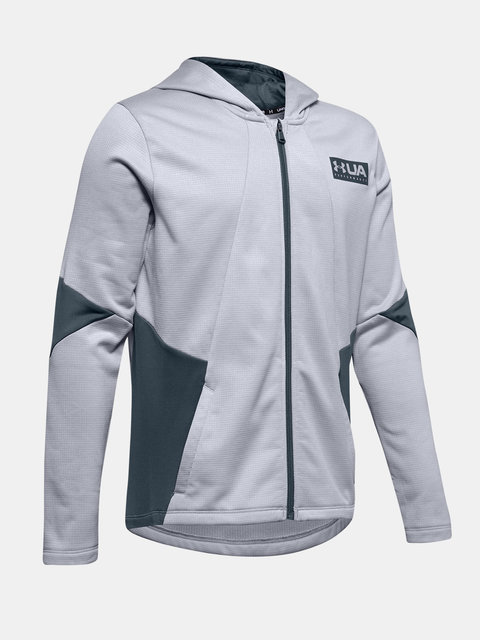 Mikina Under Armour Game Time Full Zip Hoody-Gry