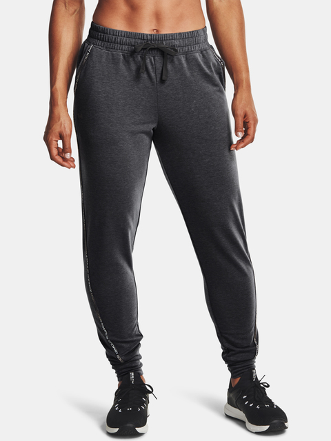 Kalhoty Under Armour UA Rival Terry Taped Pant-GRY